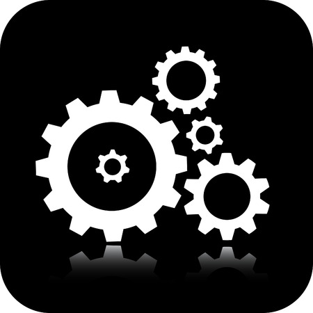 toothed: Vector gears icon