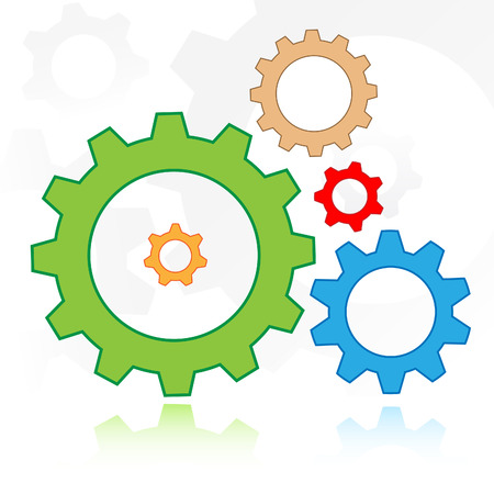 Vector gears icon Stock Vector - 4640366