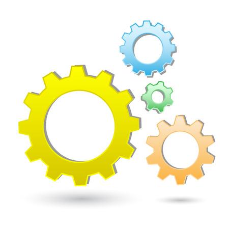 Vector gears icon Stock Vector - 4640367