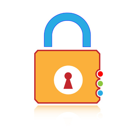 Vector lock icon Stock Vector - 4640372