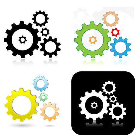 Vector gears icons