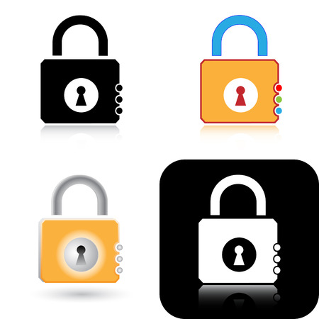 unicoloured: Vector lock icons