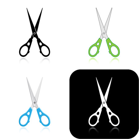 Vector scissors icons Vector