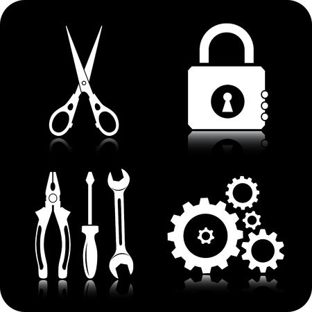 Vector tools icons Stock Vector - 4716226