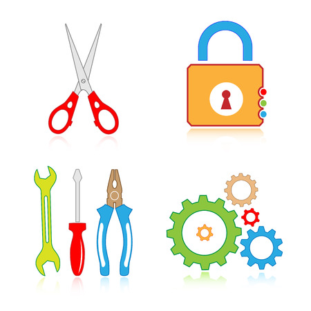 Vector tools icons Stock Vector - 4716227