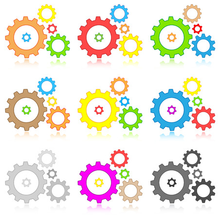 Vector gears icons Vector