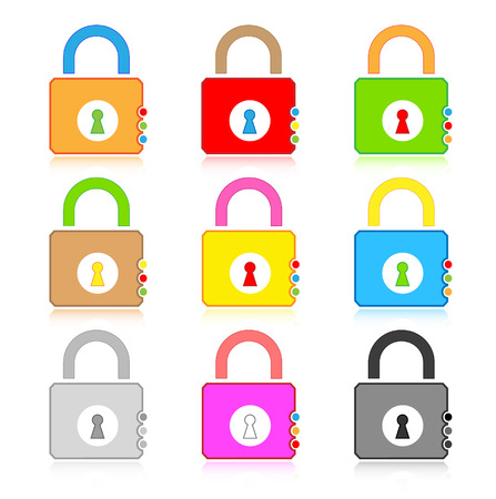 Vector lock icons Stock Vector - 4736368