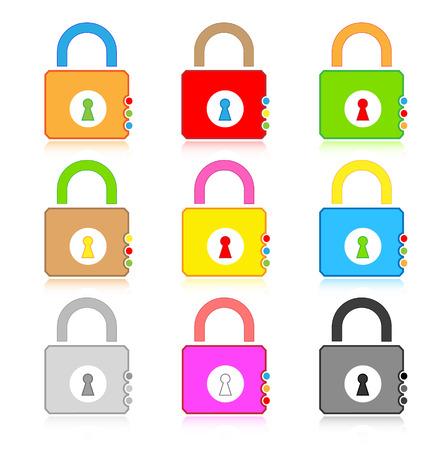Vector lock icons Stock Vector - 4736368