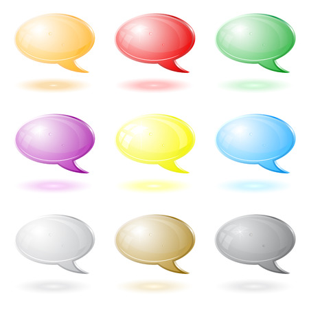 Vector 3d chat icons