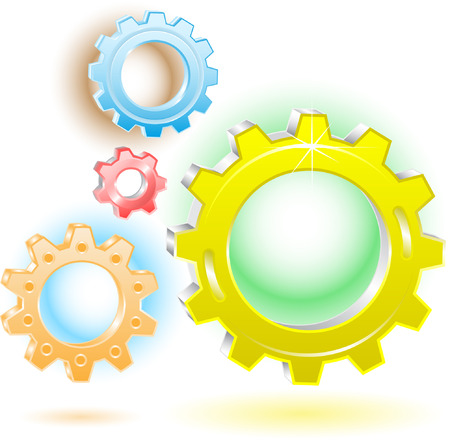 Vector 3d gears icons Vector
