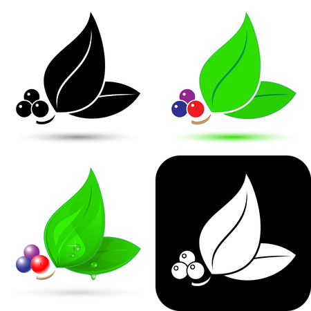 Vector leaf icons Illustration
