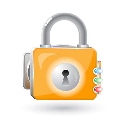 Vector 3d lock icon