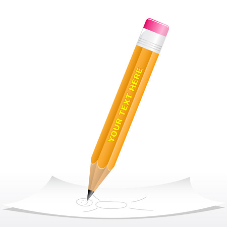 Vector 3d black pencil