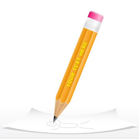 Vector 3d zwart potlood