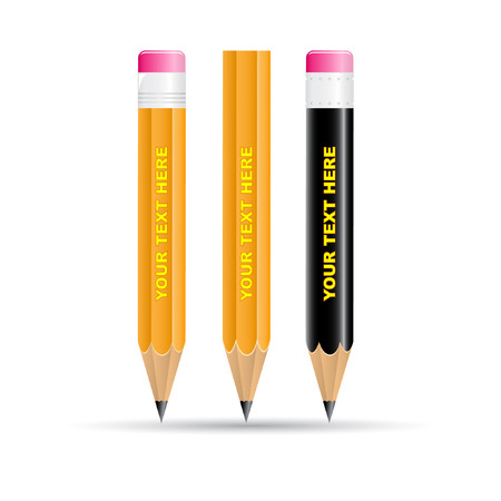 Vector 3d pencils icon Illustration