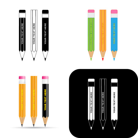 Vector pencils icons Vector