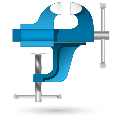Vector 3D icon of vise Illustration