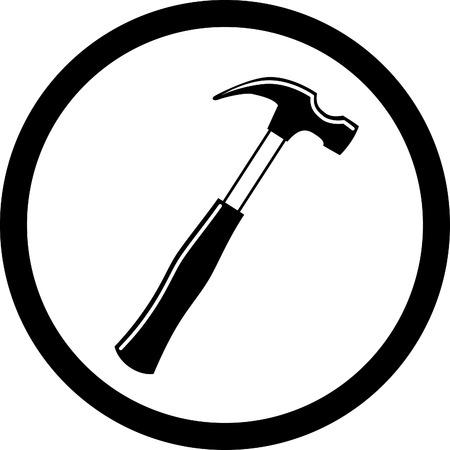 vector icon of hammer Vector