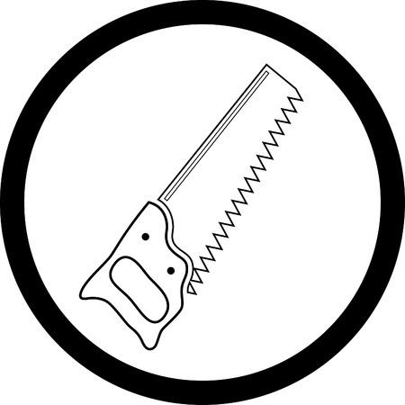 roof line: icono de vector de la sierra de mano
