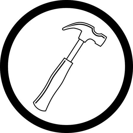 집게발: 망치의 벡터 아이콘