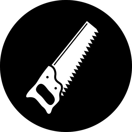 vector icon of hand saw Stock Vector - 5356851