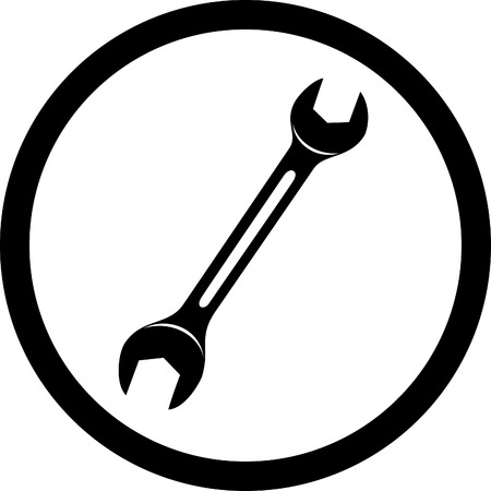 vector icon of spanner Vector