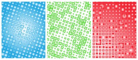 Set of abstract digital surfaces Stock Vector - 6590640