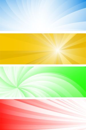 Collection of futuristic banners Stock Vector - 6590680