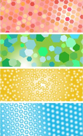 Set of abstract fantastic banners Vector