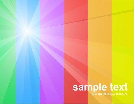 Sunny rainbow Vector