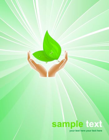 hands plant: Environmental protection
