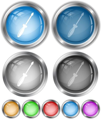 Screwdriver.  internet buttons. Stock Vector - 6685307