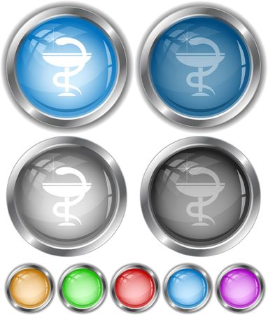 Pharma symbol.  internet buttons. Stock Vector - 6685318