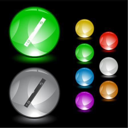 spirit level: Spirit level.  interface element. Illustration