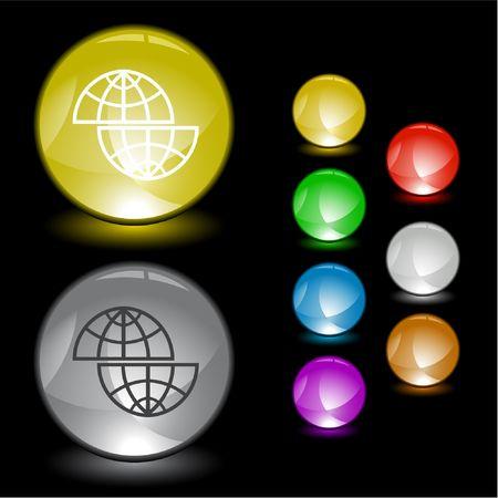 Shift globe.  interface element. Vector