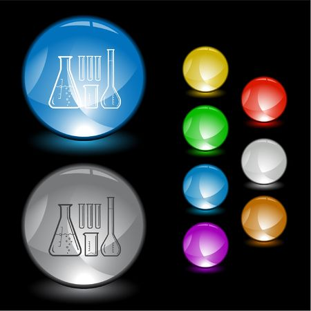 Chemical test tubes.  interface element. Stock Vector - 6685311