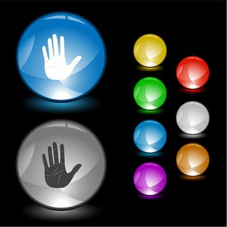 Stop hand.  Stock Vector - 6693140