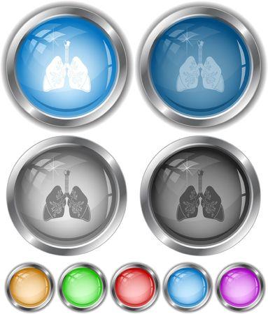 inhaling: Lungs. Illustration