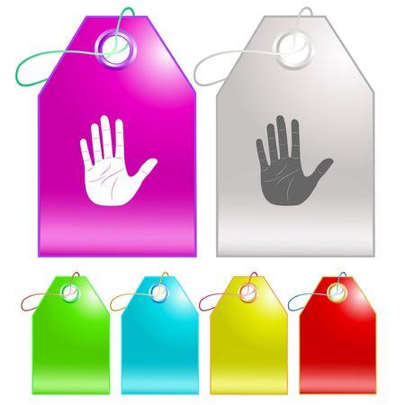 Stop hand. Stock Vector - 6693374