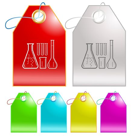 Chemical test tubes. Stock Vector - 6693391