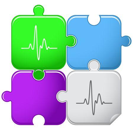 Cardiogram.  Vector