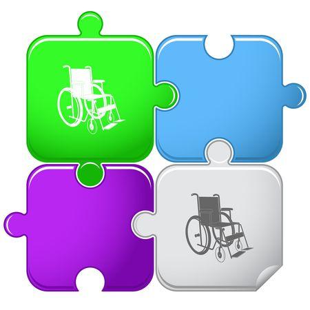 invalid: Invalid chair. Illustration