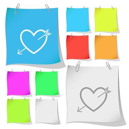 Heart and arrow. Stock Vector - 6693879