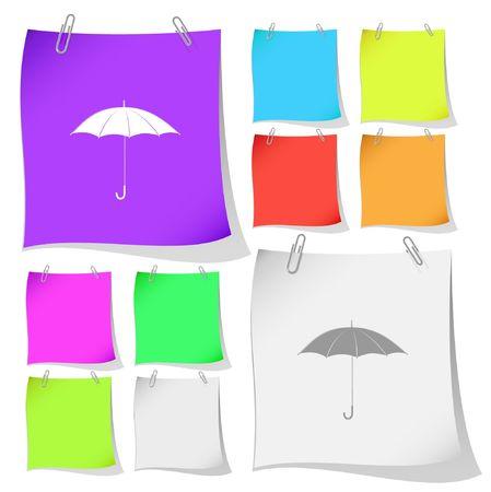telescopic: Paraguas.  Vectores
