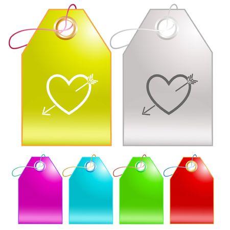 Heart and arrow.  Stock Vector - 6693876