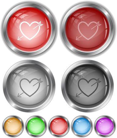 Heart and arrow. Stock Vector - 6693928