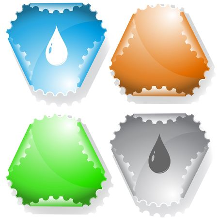 Drop. sticker. Stock Vector - 6695858