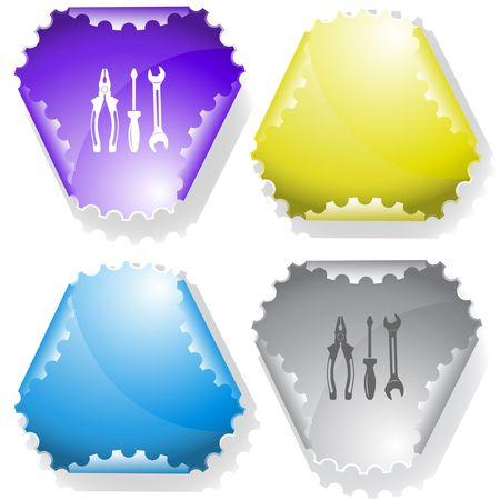Tools. sticker. Stock Vector - 6695873