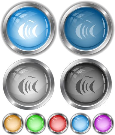 Abstract fish.  internet buttons. Vector