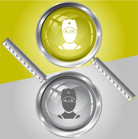 Doctor. magnifying glass. Stock Vector - 6731883